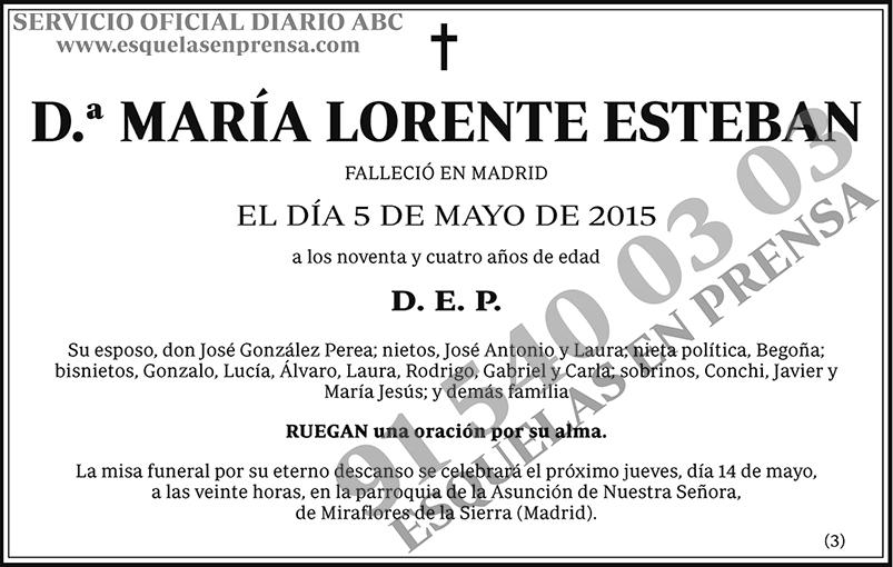 María Lorente Esteban